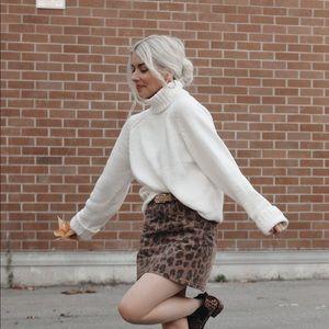Blank NYC Leopard Skirt